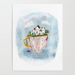 Pink Cup island Poster
