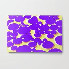 Lotus Pond Ultra Violet Lemonade Metal Print