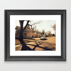 Small Town Framed Art Print