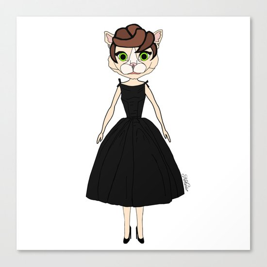 Audrey Cat Canvas Print