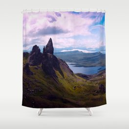 Moon Rise Shower Curtain
