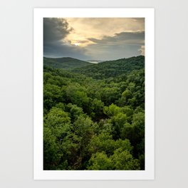 Table Rock Lake Sunset at Top of the Rock - Missouri Ozarks Art Print