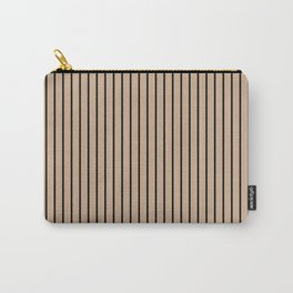 Hazelnut and Black Stripes Carry-All Pouch