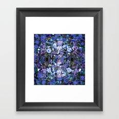 Blue Spot Floral Framed Art Print