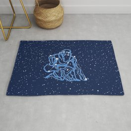 Aquarius Constellation and Zodiac Sign with Stars Rug