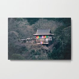 Temple on the mountainside Metal Print