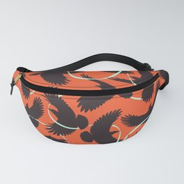 Crows with Ribbon Fanny Pack