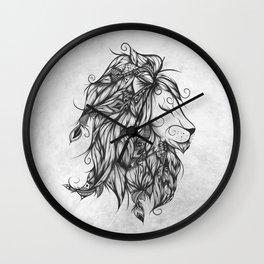 Poetic Lion B&W Wall Clock
