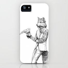 Gentleman Wolf iPhone Case