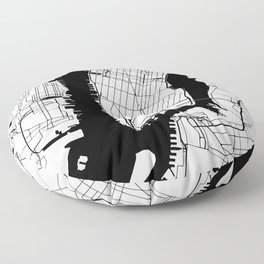 New York City Minimal Map Floor Pillow