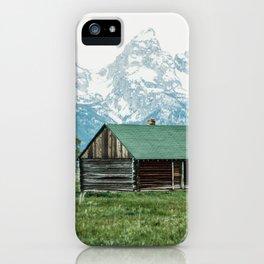 Teton Cabin iPhone Case