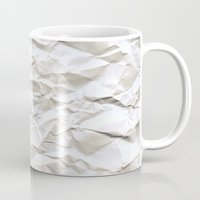 origami Mugs featuring White Trash by pixel404