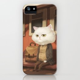 A cat waiting for someone iPhone Case