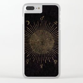Astronomy Symbols Clear iPhone Case