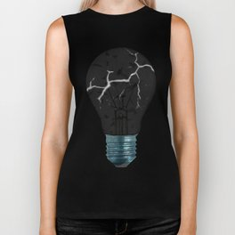 Broken Light Bulb Biker Tank