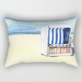 Sylt Watercolor Beach Painting Rectangular Pillow
