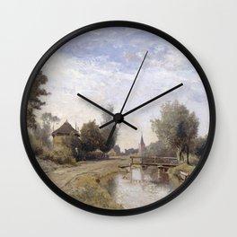 Paul Joseph Constantin Gabriël - Landschap bij Kortenhoef Wall Clock