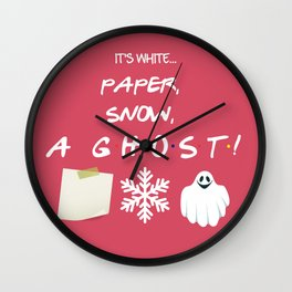 Paper, Snow, A Ghost! - Friends TV Show Wall Clock