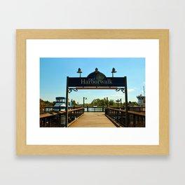 Harborwalk Sign Framed Art Print