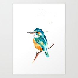 Kingfisher metallic Art Print
