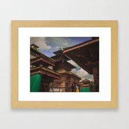 Architecture of Kathmandu City 002 Framed Art Print