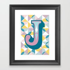 Letter J Framed Art Print