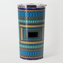 Soul Portal Geometric Print Travel Mug