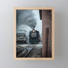 Strasburg Railroad Steam Engine #90 Vintage Train Locomotive Pennsylvania Framed Mini Art Print