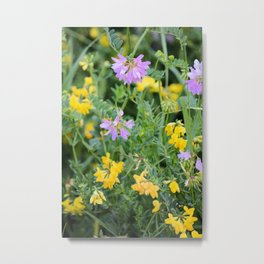 Partridge Pea Bouquet Metal Print