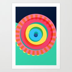Layered Circles Art Print
