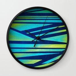 LIME ZEBRA Wall Clock