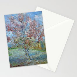 Vincent Van Gogh - Peach Tree in Bloom (In Memory of Mauve) Stationery Cards
