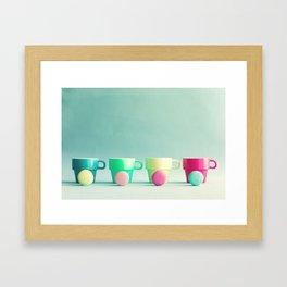 Macarons, macaroons and coffee, pop art Framed Art Print