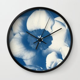 Petals by the Sea [Cyanotype Blue] Wall Clock