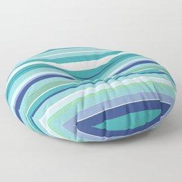 Tropical Blue Stripe|Banana Leaf Coordinate|Renee Davis Floor Pillow