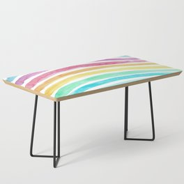 Pastel Watercolour Rainbow art Coffee Table
