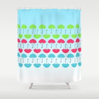 umbrella Shower Curtains featuring Umbrella by hannahclairehughes