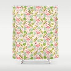 Fruity Flamingo - Pink Shower Curtain