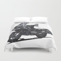 bmw Duvet Covers featuring BMW R1200GS by Ernie Young