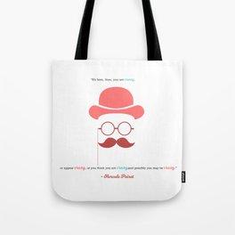 Hercule Poirot Tote Bag