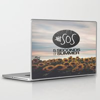 5 seconds of summer Laptop & iPad Skins featuring 5 seconds of summer sunflowers by Rose