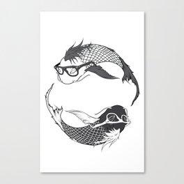 Hipster Koi Canvas Print