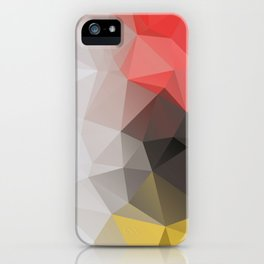Lea – modern polygram illustration, wall art print iPhone Case