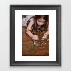 a miniature teaparty Framed Art Print