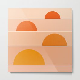 Abstraction_Sunrise_Minimal_003 Metal Print