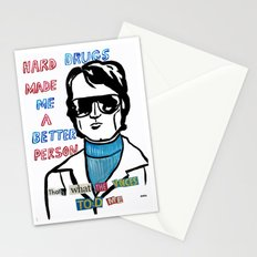 Hard Drugs made me a better person Stationery Cards