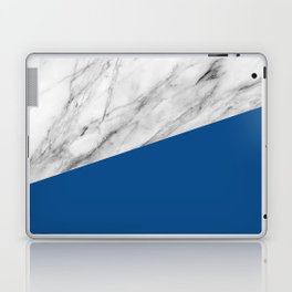 Marble and Lapis Blue Color Laptop & iPad Skin
