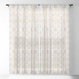 Golden Geo Sheer Curtain