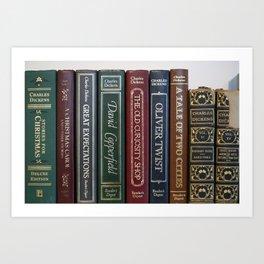 Dickens Books Art Print