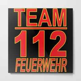 Team Fire Brigade Metal Print